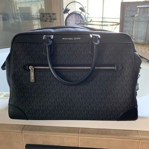 Michael Kors Black travel weekender bag
